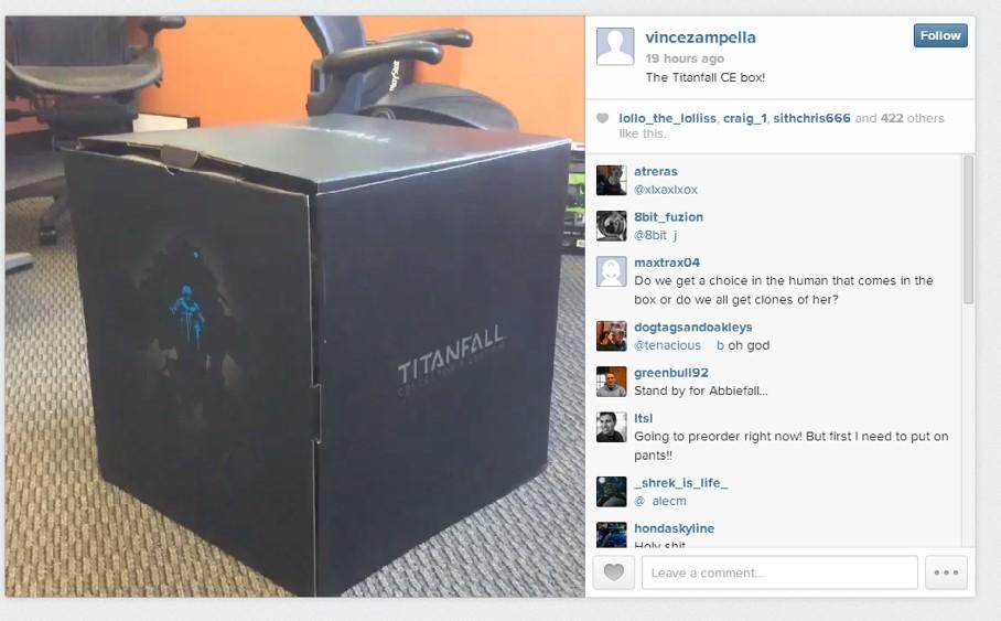 Titanfall edicion coleccionistas caja