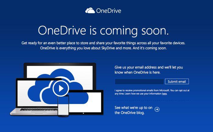 Skydrive cambia de nombre a OneDrive