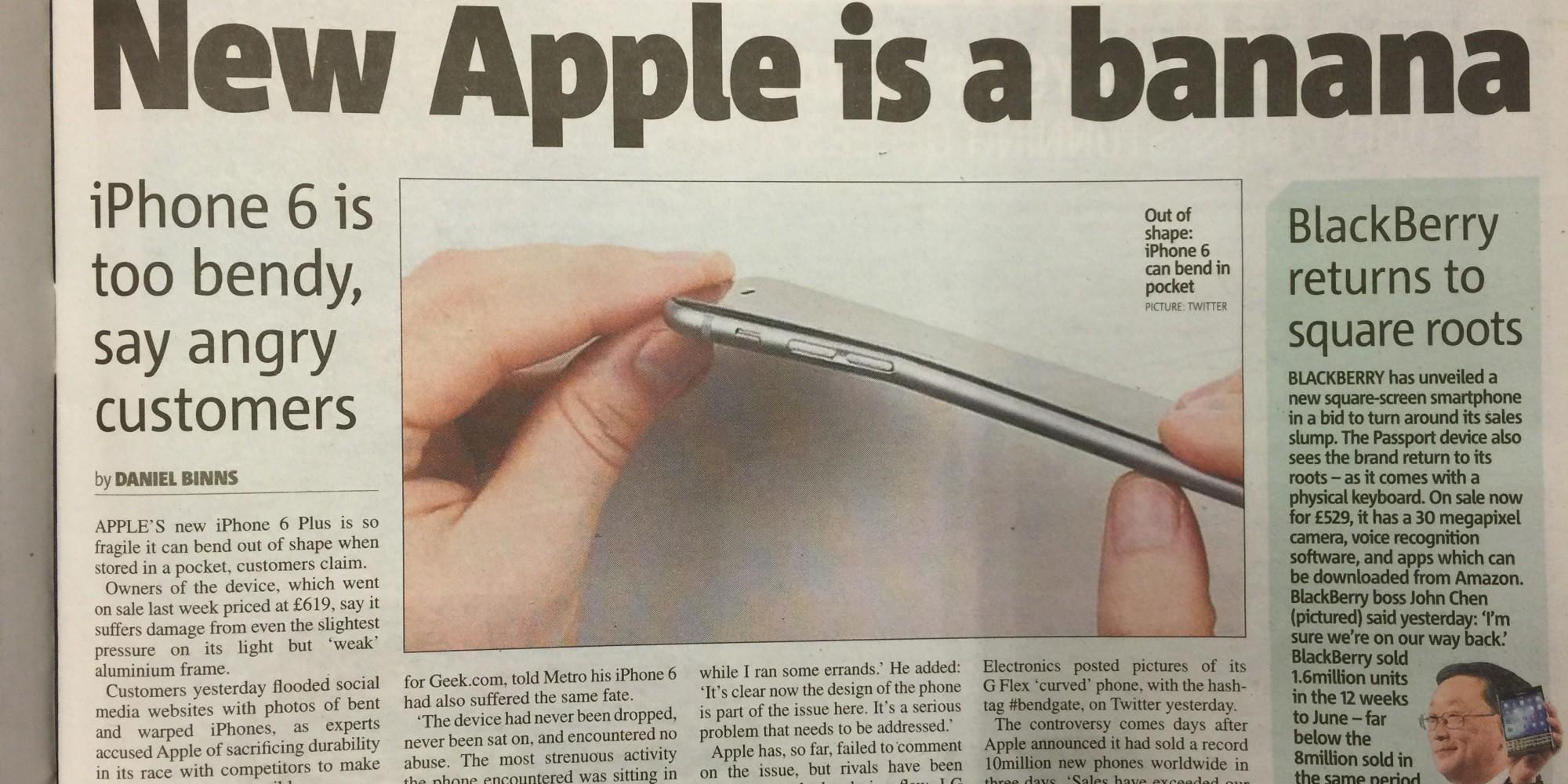 iPhone 6 Plus Bendgate 8