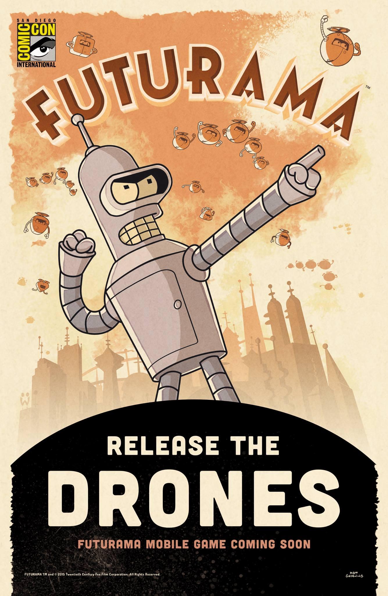 futurama release th drones